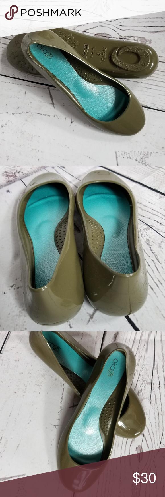 8e7baa2b9d24a8 Oka b. Taylor Ballet Flats Oka b. Taylor Ballet Flats in olive green . New  without box!!! OKA b. Shoes Flats   Loafers