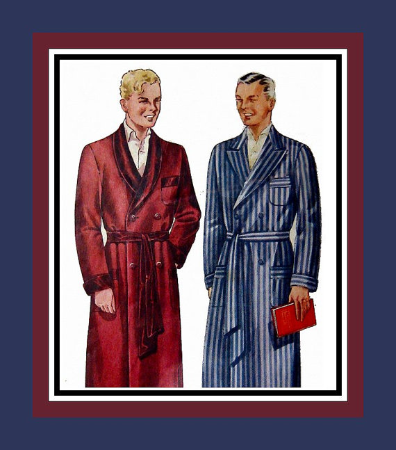 Vintage 1930s -DOWNTON ABBEY Style -Gentlemens Dressing Gown -Sewing ...