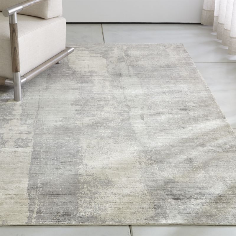 Tottori Grey Abstract Rug Crate And Barrel With Images Abstract Rug Crate And Barrel Rugs Rugs