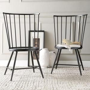 Homesullivan Walker White Wood Metal High Back Dining Chair Set Of 2 40550c Wh3a2pc At The Home Depot Mobile