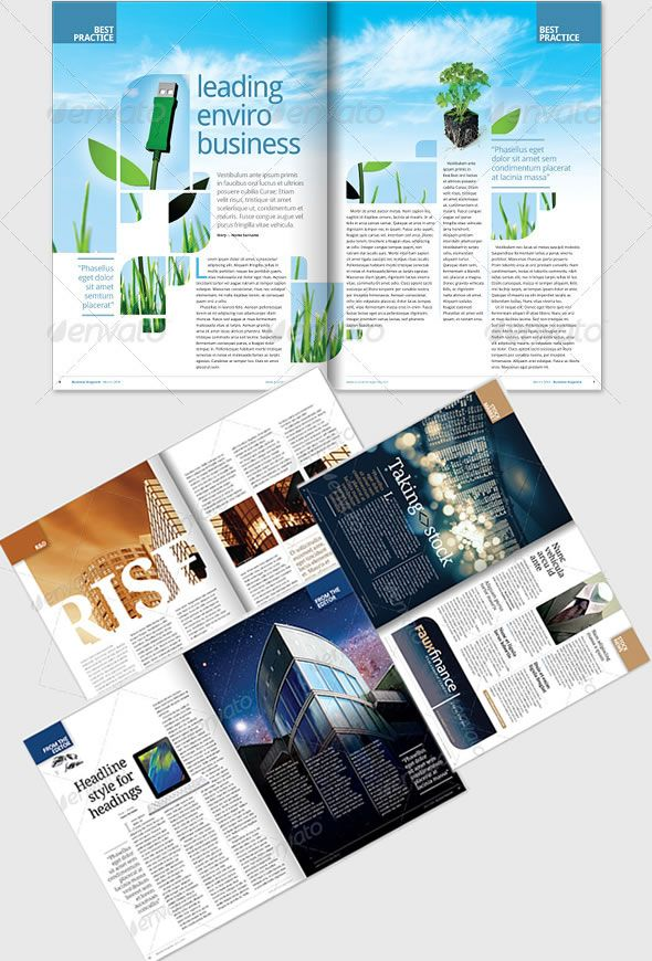 Layout Design Ideas: FREE Complete Magazine Layouts...I Can't Describe How
