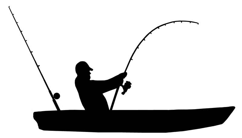 Kayak Fishing Vinyl Sticker Fish Silhouette Fish Clipart Kayak Fishing