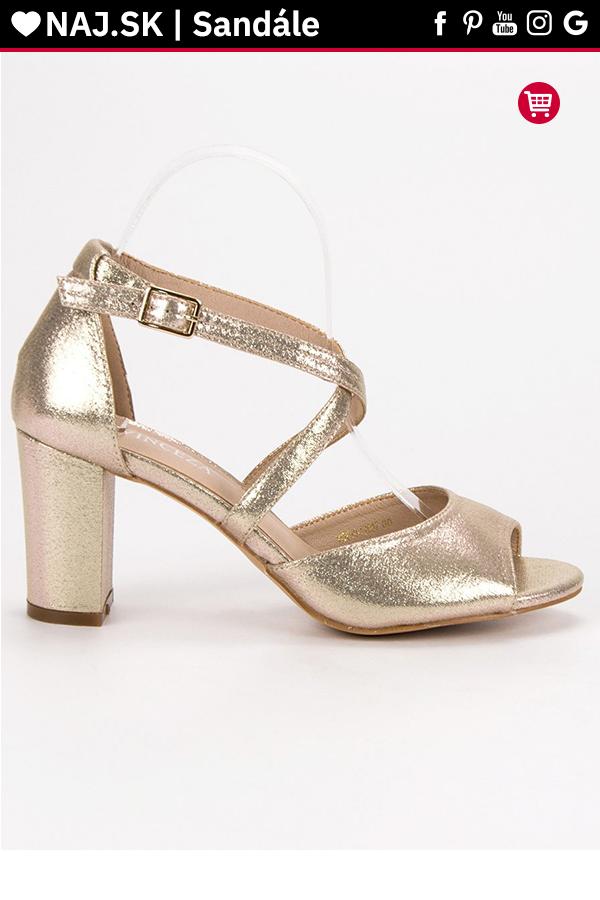 7fd717fee1e02 Zlaté sandále na stĺpiku VINCEZA v roku 2019 | Sandále - NAJ.SK ...