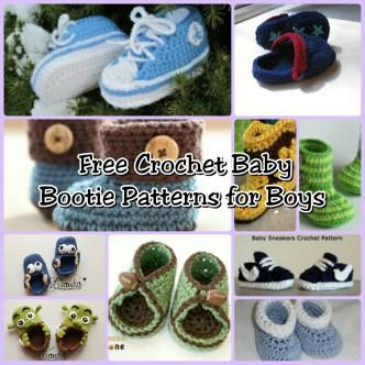 Free Crochet Baby Bootie Patterns for boys - The Lavender Chair