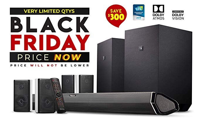 Amazon Com Nakamichi Shockwafe Ultra 9 2 4ch 1000w Dolby Atmos Soundbar With Dual 10 Subs Wireless Four Dolby Atmos Home Theater Surround Sound Sound Bar
