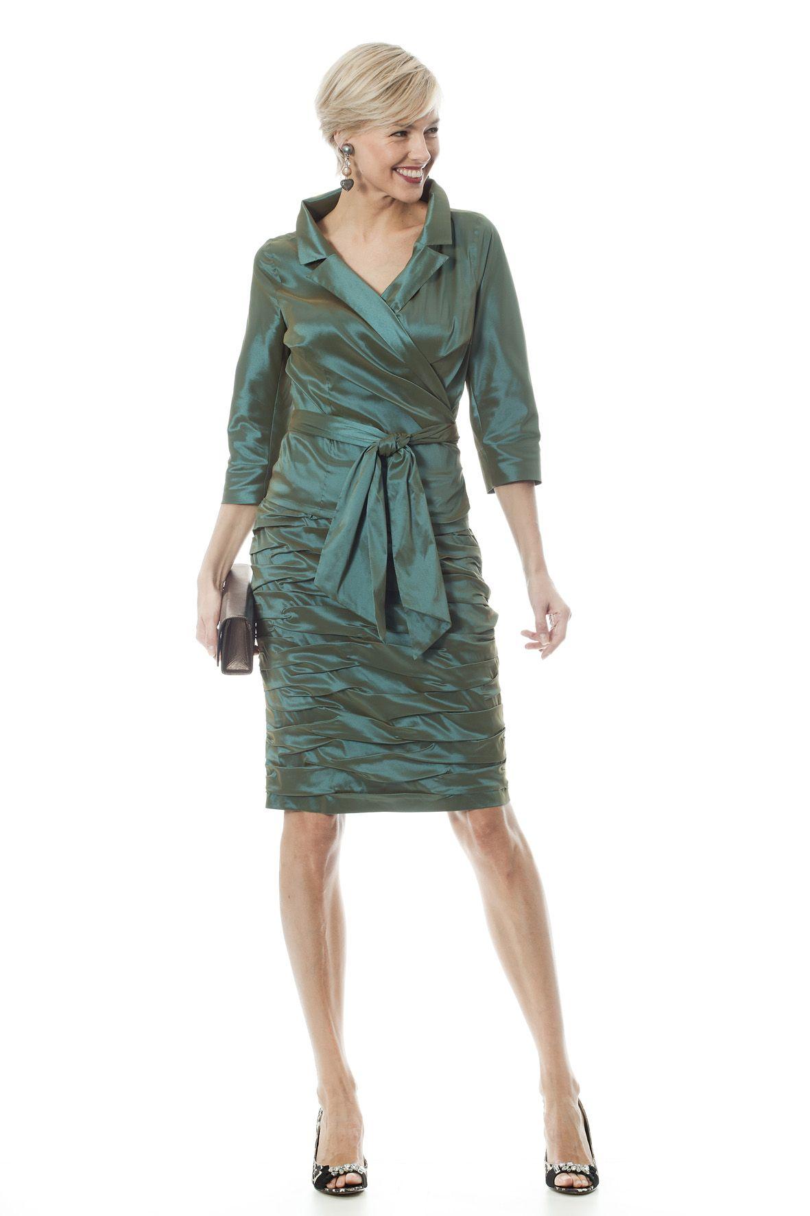 Super Een schitterend groen mantelpakje voor de moeder van de bruid EZ-84