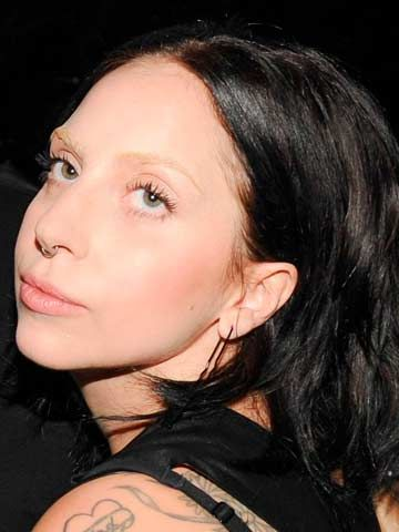 The beautiful lady Gaga with the bleached eyebrows