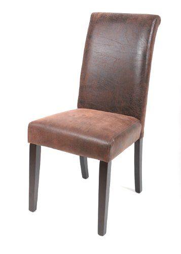 silla de comedor haya maciza wengué/marrón aspecto antigu https