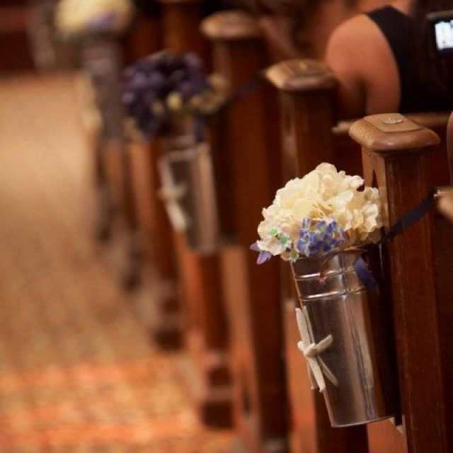 Simple Wedding Church Pew Decorations: Easy To Make Nautical Church Pew Decorations