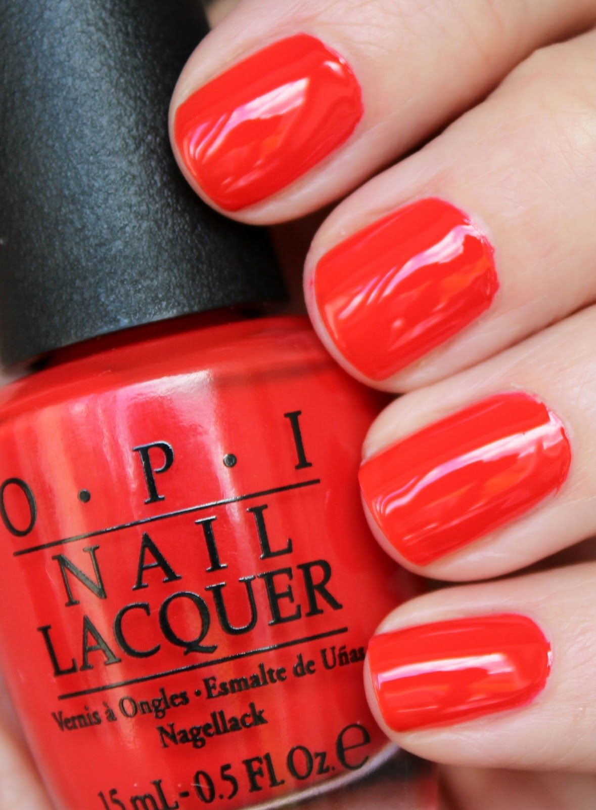 Opi I Stop For Red Tomato Creme Nail Polish Lacquer