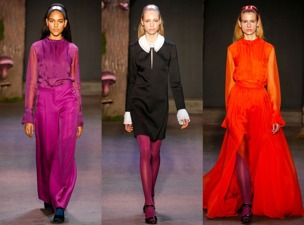 Honor - Best Shows at New York Fashion Week Fall 2015  Fuchsia tights, blood orange dresses and prim black-and-white looks dominated Honor's runway.