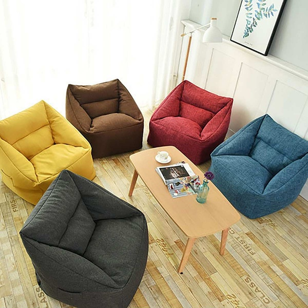 Buy 2019 Waterproof Bean Bag Lazy Sofa Indoor Seat Chair Cover Beanbag Sofas Large Bean Bag Cover Armchair Washable Cozy Game Yellow at Wish - Shopping Made Fun