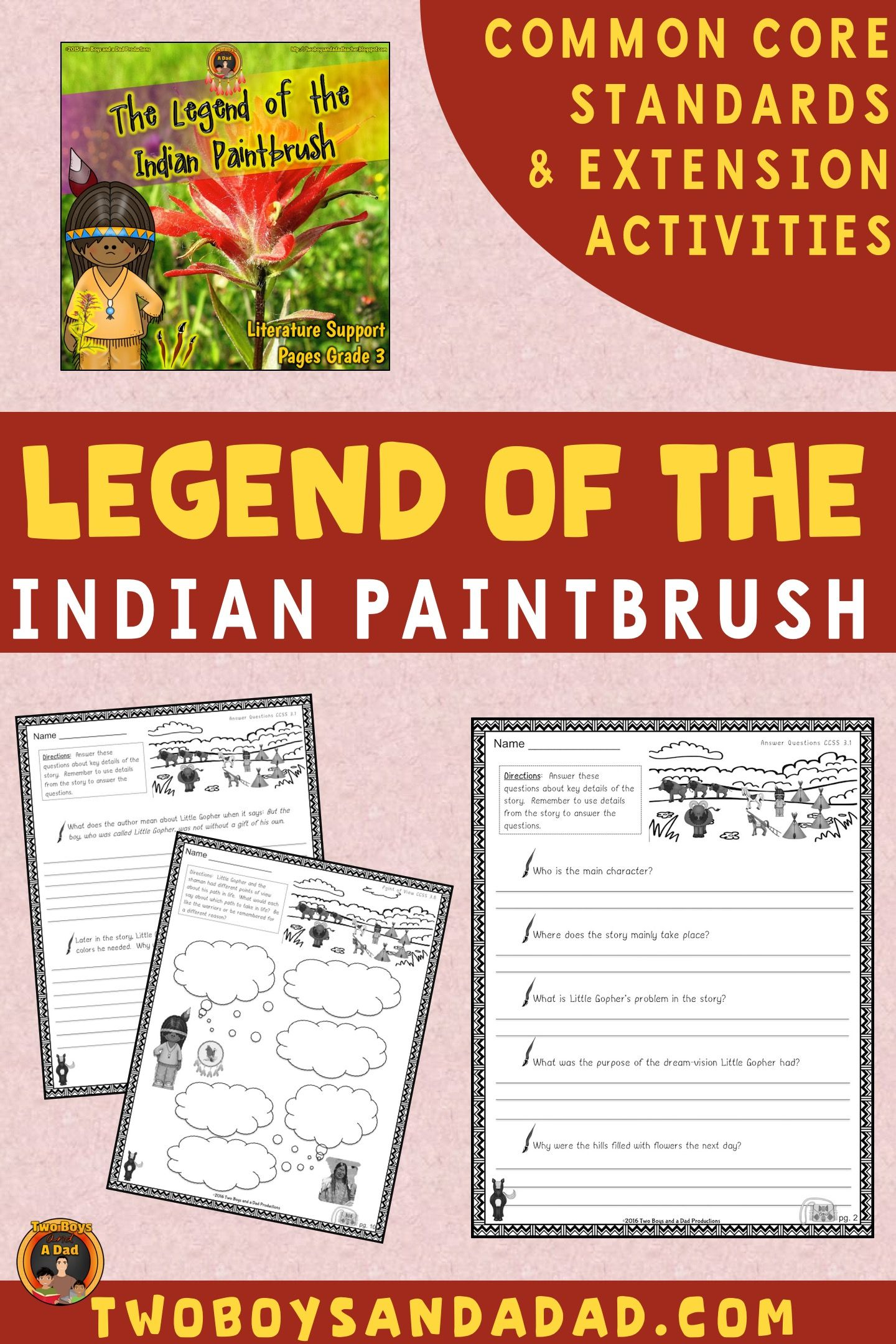Legend Of The Indian Paintbrush Literature Standards