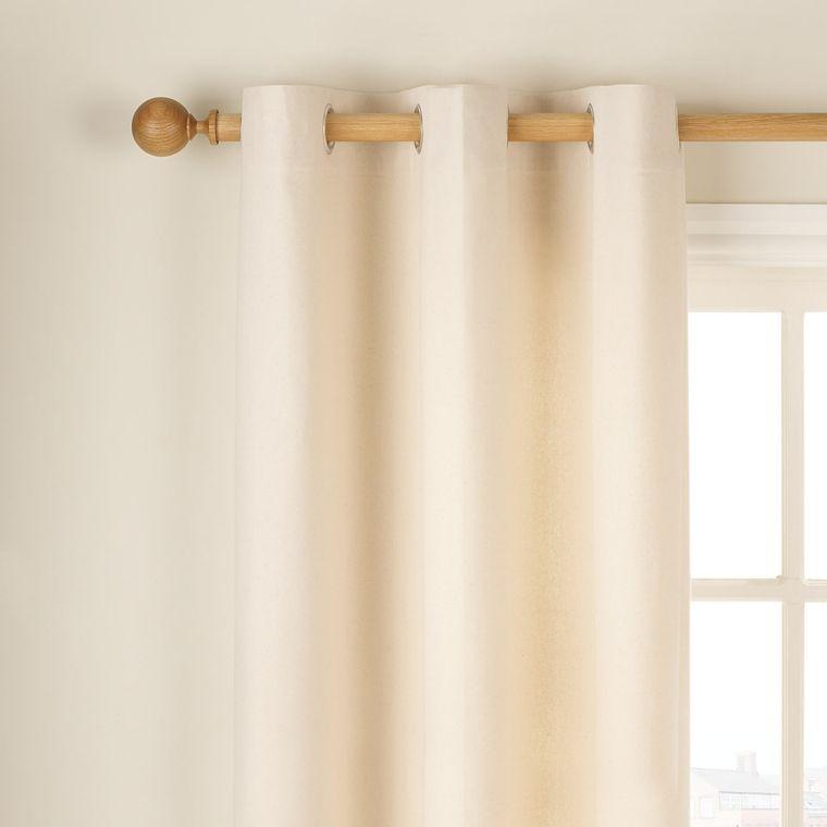 cortina color beige de algodn natural - Cortinas Beige