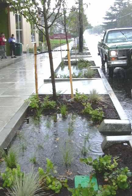 Stormwater Management Design : Stormwater planters born in portland oregon are being