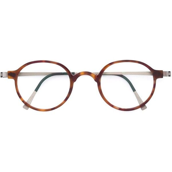 Lindberg round frame glasses (1.695 RON) ❤ liked on Polyvore ...
