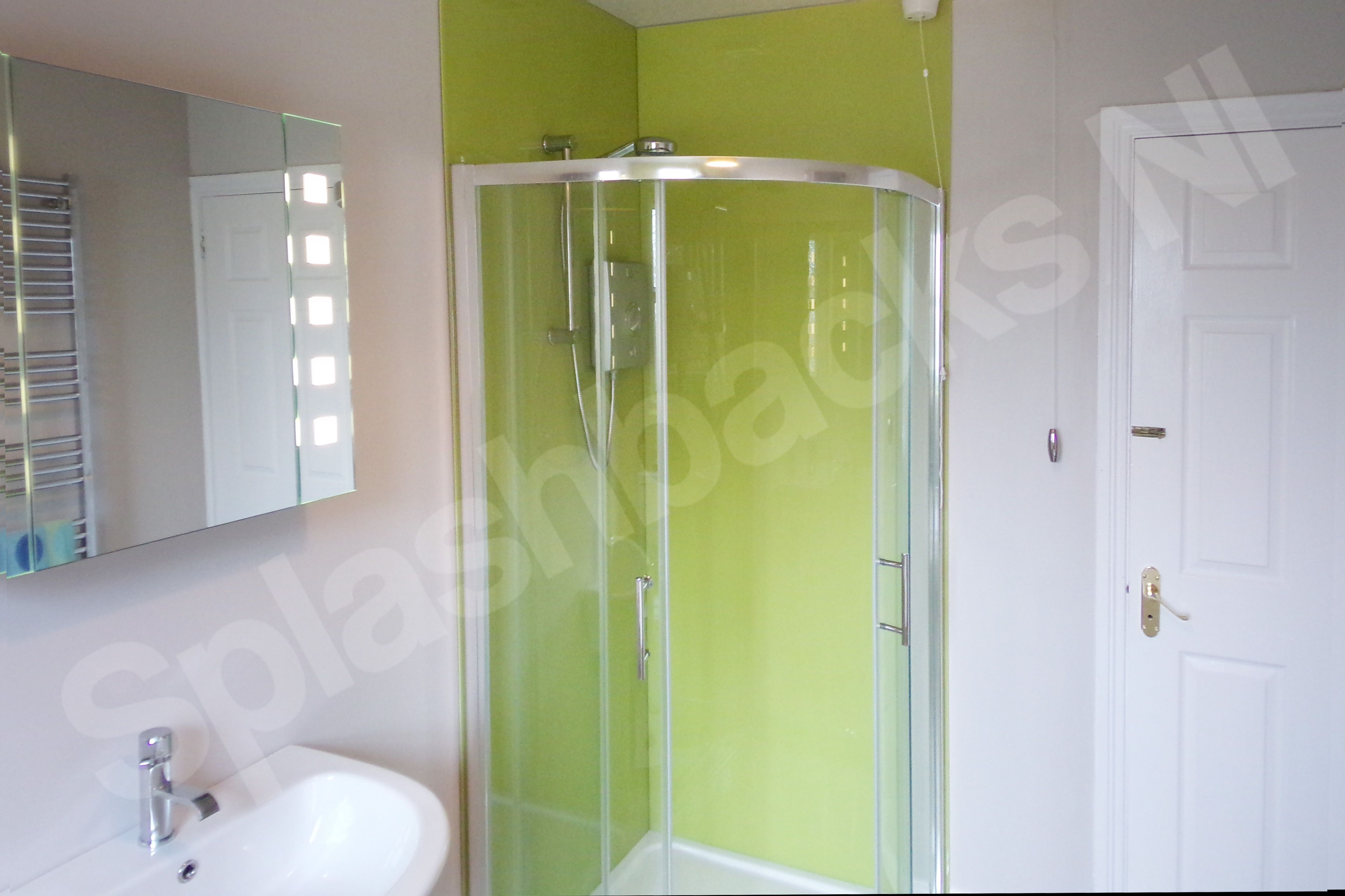 Wild Lime Shower Panels Tired Of Cleaning Out Tiles In