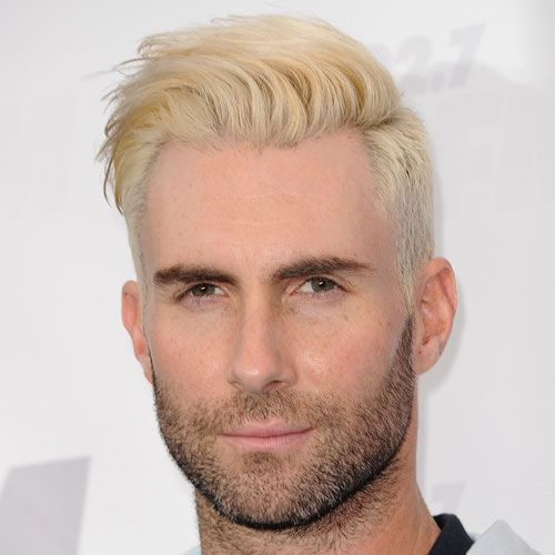 The Best Adam Levine Haircuts & Hairstyles (2020 Update) | Bleached hair men, Men hair color, Bleached hair