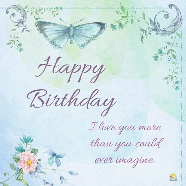 Love You Mom Happy Birthday Birthdays And Perfect Word Happy Birthday Wishes Butterfly