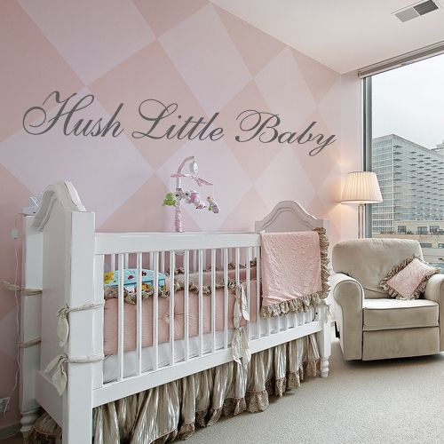 Hush Little Baby Wall Sticker Decals. Perfect For Her Room Lopez Sevilla