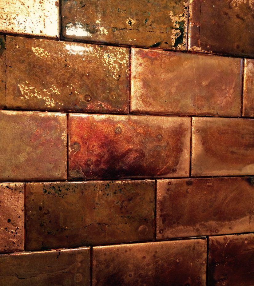 backsplashes hammered copper backsplash