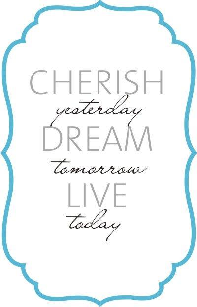 Wall Words Cherish Dream Live