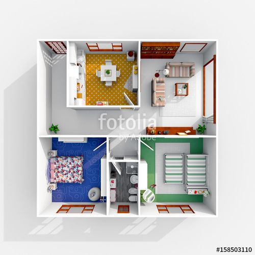 #3d #interior #rendering of #furnished #home #apartment