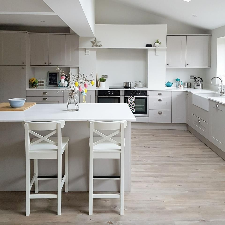 My new kitchen solent kashmir cupboards karndean country oak flooring photo property of victoria goddard