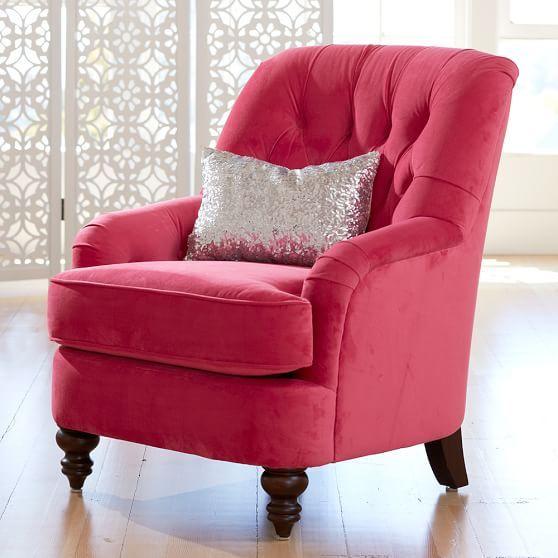 "Girls Bedroom Chair   PBteen $499 31.25""W x 33.75""D x 35.5""H"