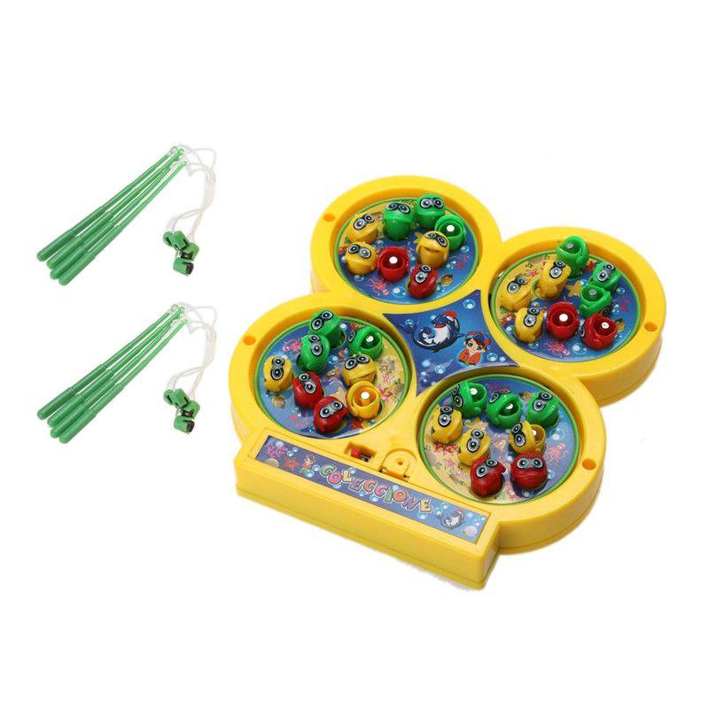 Hoge Kwaliteit Kids Elektrische Roterende Magnetische Magneet Vissen Speelgoed Kid Kinderen Educatief Speelgoed Kinderen Baby Kid's Speelgoed