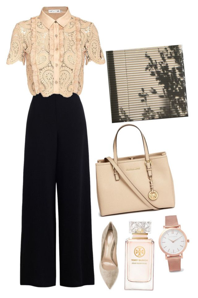 """""""Untitled #1035"""" by astridx ❤ liked on Polyvore featuring Zimmermann, self-portrait, Gianvito Rossi, Michael Kors, Tory Burch and Larsson & Jennings"""