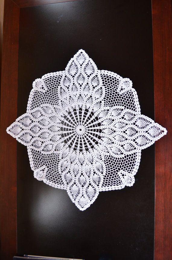 Magnífico Crochet Patrón Ribete Piña Foto - Manta de Tejer Patrón de ...