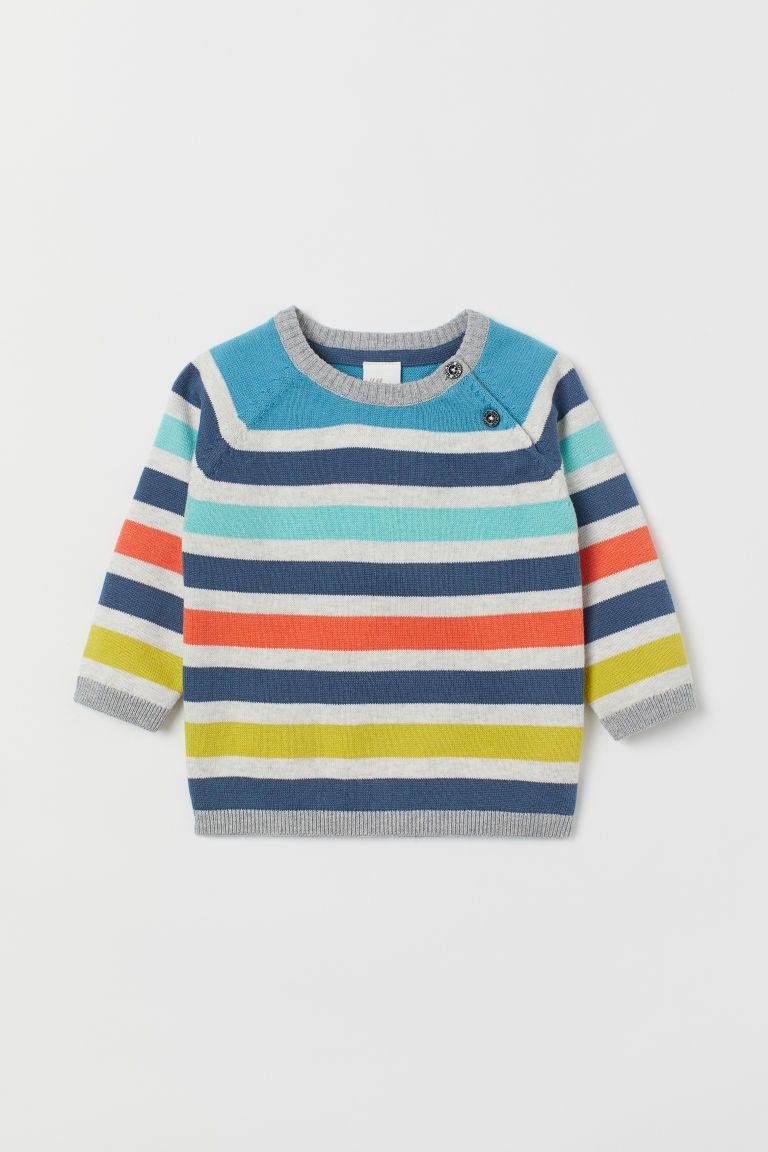 b3b64b425d7 Fine-knit jumper | Baby clothes | Sweaters, Knitting, Blue stripes