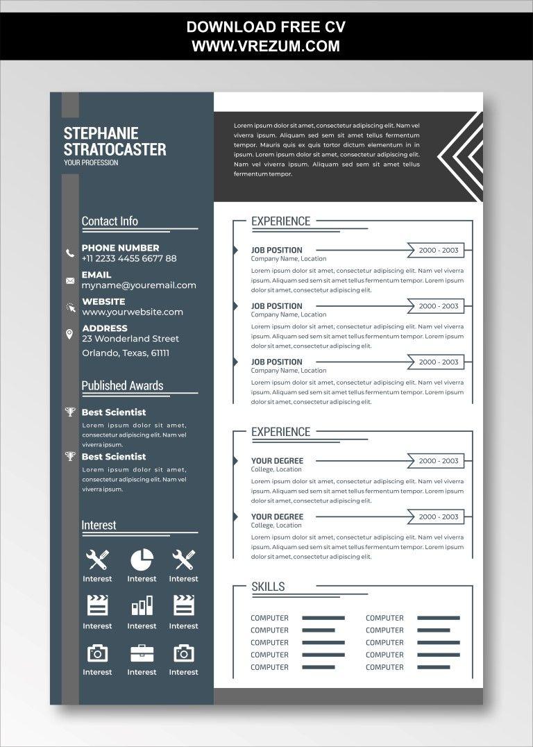 Editable Free Cv Templates For Data Analyst Cv Template Free Cv Template Data Analyst