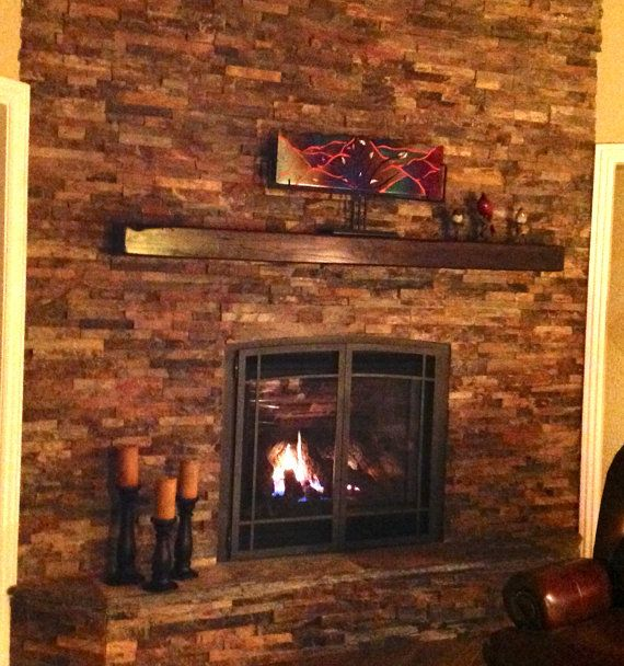 Mantle Stunning Salvaged Traincar Oak 60 X 8 X 4 High Fireplace Stone Houses Home Decor Mantle