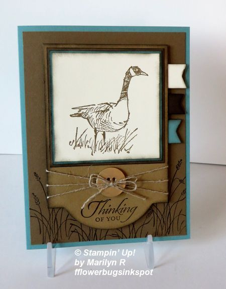 Wetlands 'Framed' card.  Get the 'how to' from Flowerbug's Inkspot