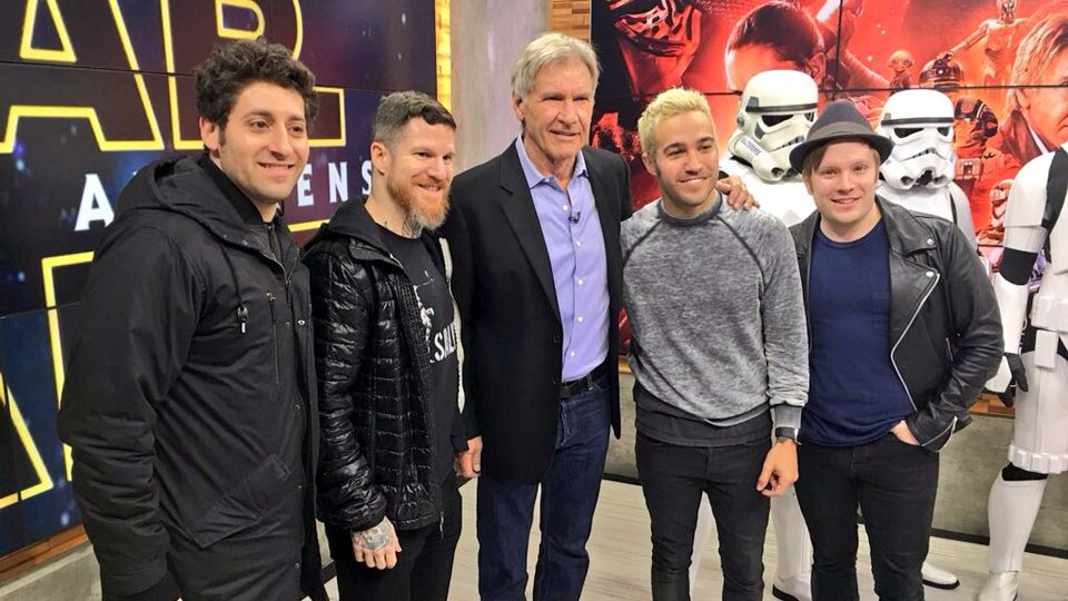 Fall Out Boy and Harrison Ford