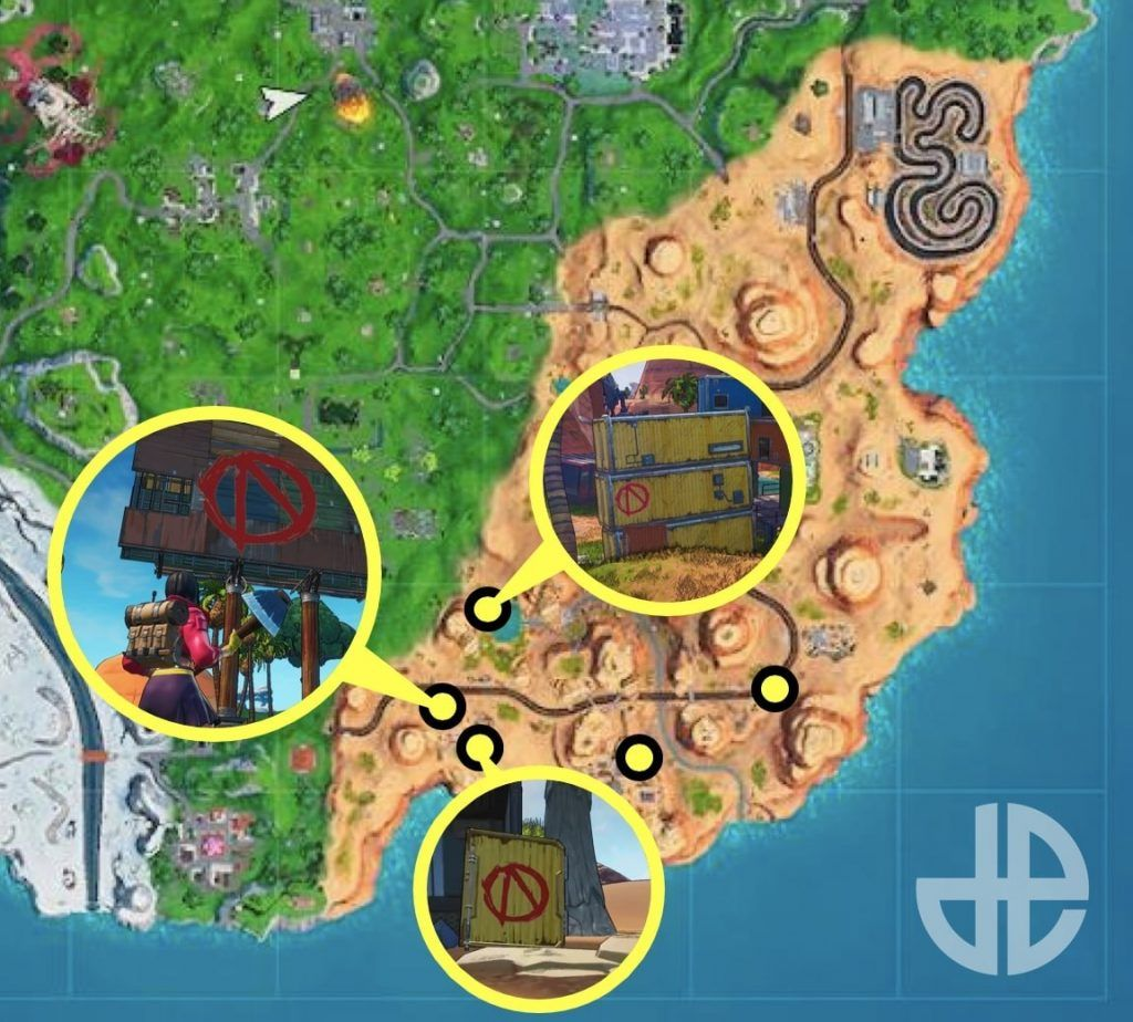 Where To Find Vault Symbols For Welcome To Pandora Fortnite Challenge Gearboxs Borderlands Invaded Fortnite Battle Royale With A Fortnite Borderlands Symbols