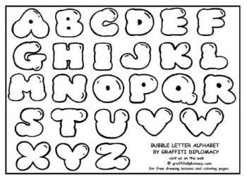Bubble Letter Alphabet Bubble Letters Alphabet Lettering Alphabet Graffiti Lettering