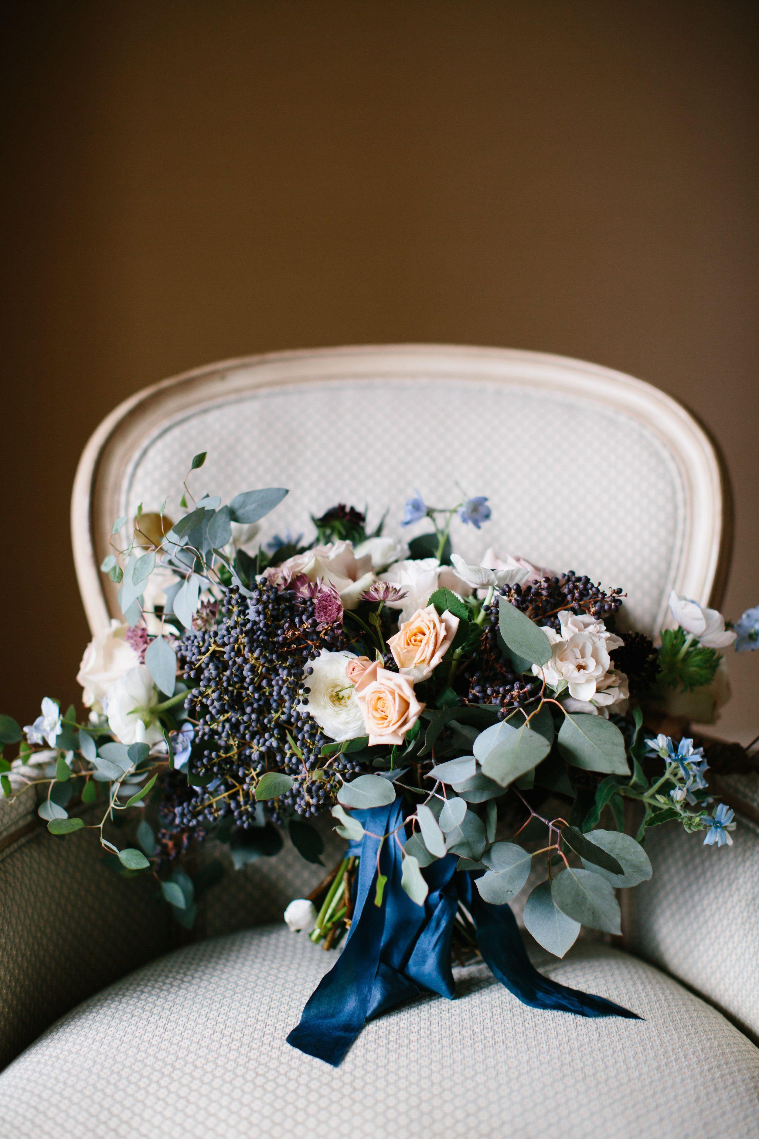 Lush garden bouquet by Wild Green Yonder wedding