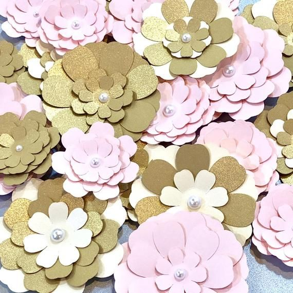 10 15 Pieces Small Paper Flower Set Diy Project Decor Nursery