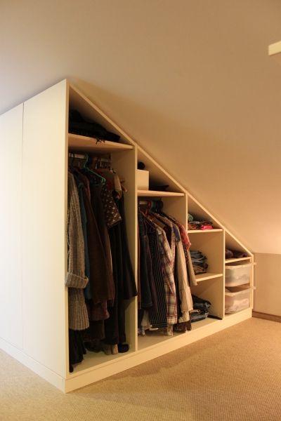 schappenkast op maat met schuine wand rechts zolder pinterest haus dachgeschoss und schrank. Black Bedroom Furniture Sets. Home Design Ideas