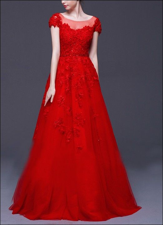 Rotes Brautkleid mit Spitze | rochii | Pinterest | Celebrations
