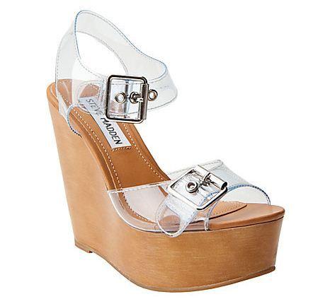vagón Figura bandera  Clear Plastic Strap Wedges--hot shoe trend   Steve madden shoes, Trending  shoes, Latest shoe trends