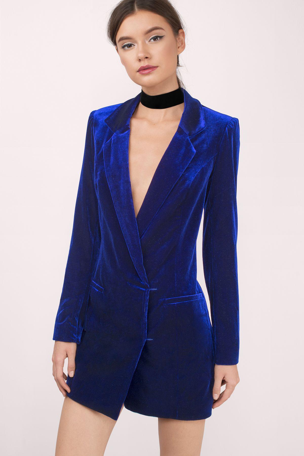 Cara Velvet Blazer Dress Blazer dress, Velvet blazer