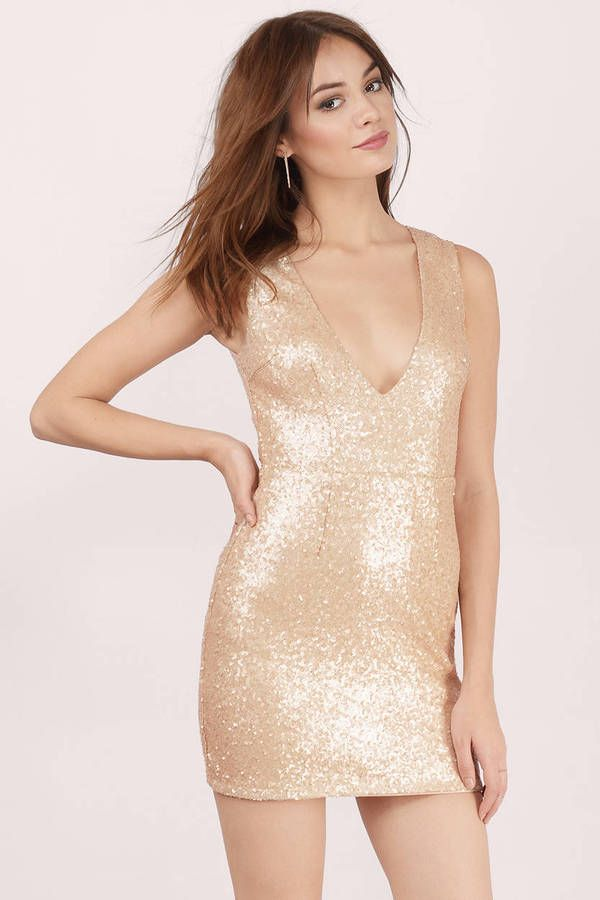 The Gwyn Dress was designed to dazzle. This allover sequin bodycon mini dress is fully lined with a zipper closure. Shine your way through anything fr - Fast & Free Shipping For All Orders!