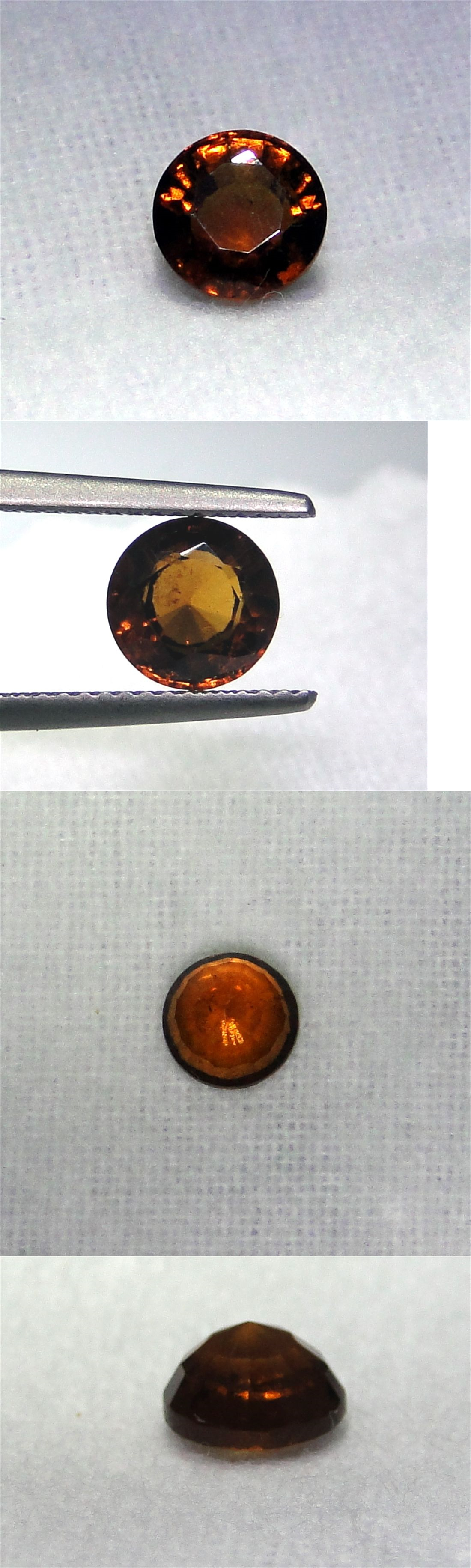 Spessartine 110808: Round Faceted Orange Red Spessartite Garnet, Vs Clarity, 1.90 Carats BUY IT NOW ONLY: $33.0