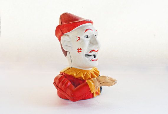 Cast Iron Clown Bank Humpty Dumpty