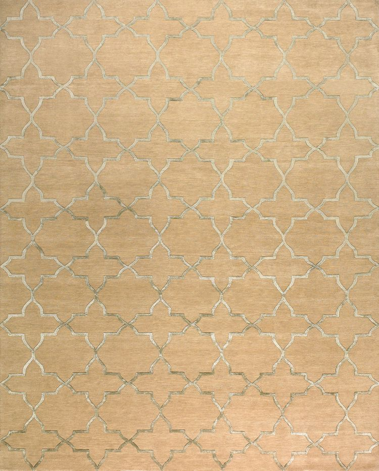 Alhambra, misty aqua – This collection combines traditional patterns with a modern day aesthetic to create perfect designs for a transitional style. These classically refined and ethically crafted Tibetan rugs combine the unique style and unequaled craftsmanship that New Moon is best known for.