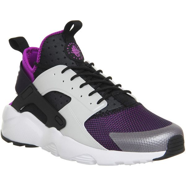 Nike Air Huarache Run Ultra Black Wolf Grey Hyper Violet White - His  trainers